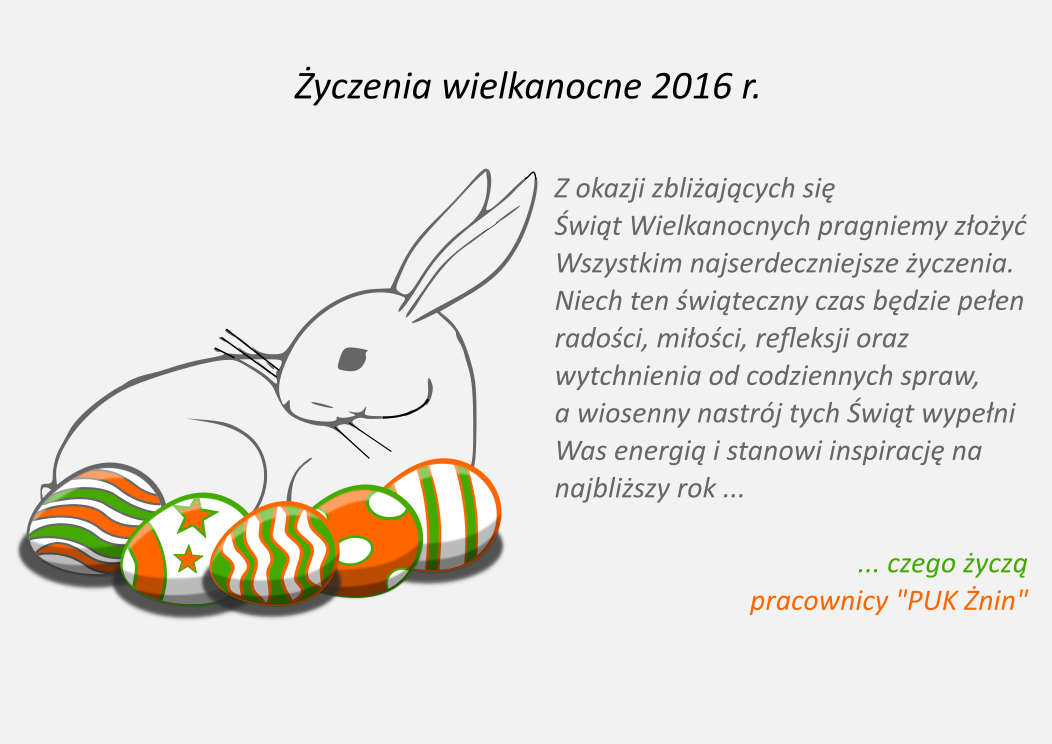 Życzenia wielkanocne 2016 r.