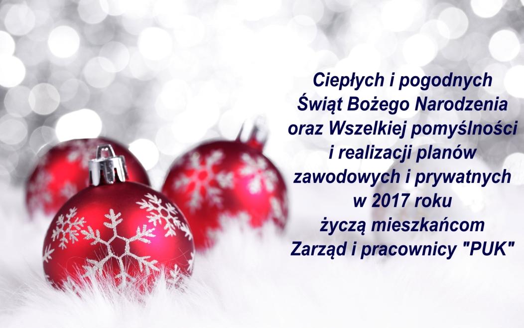 Życzenia Świąteczne 2016 r.